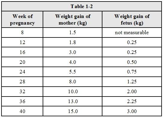 How Much Weight To Gain During Pregnancy Chart Drive